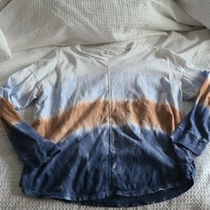 Madewell delancey tee dip dye top small